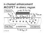 n channel enhancement mosfet in ohmic region