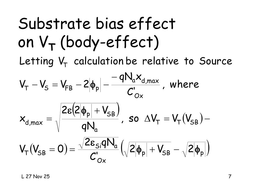 Substrate bias effect