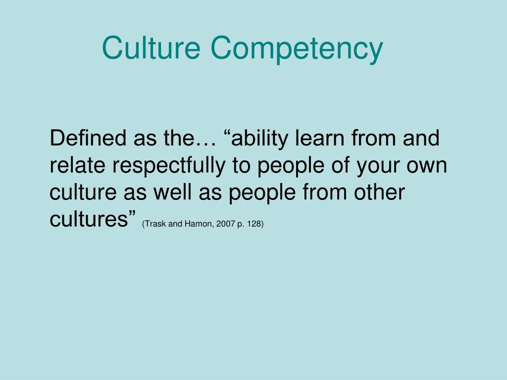 Culture Competency