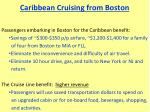 caribbean cruising from boston