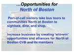 opportunities for north of boston