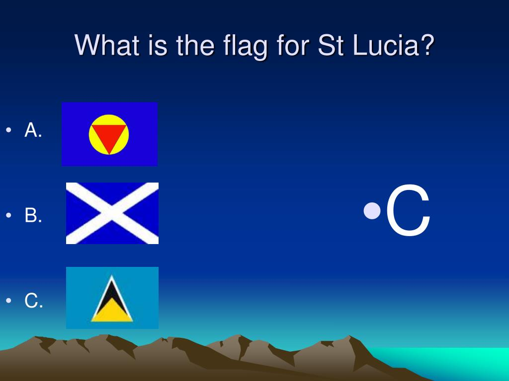 What is the flag for St Lucia?