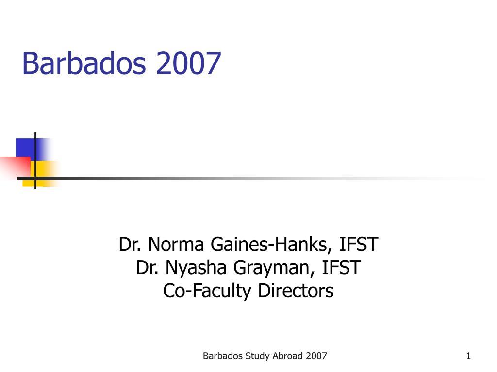 barbados 2007 l.