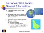 barbados west indies general information