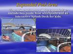 expanded pool area