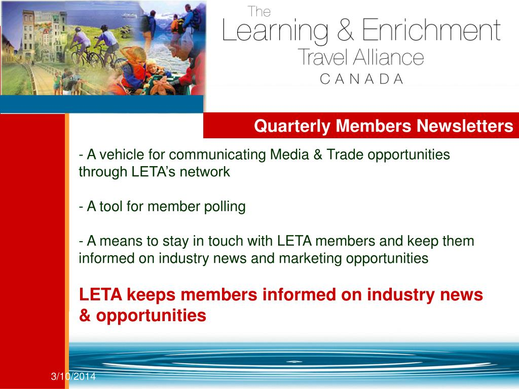 Quarterly Members Newsletters