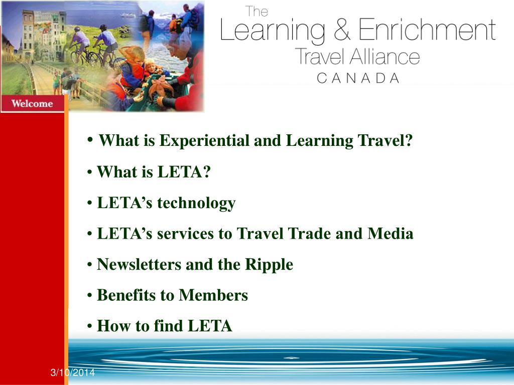 What is Experiential and Learning Travel?