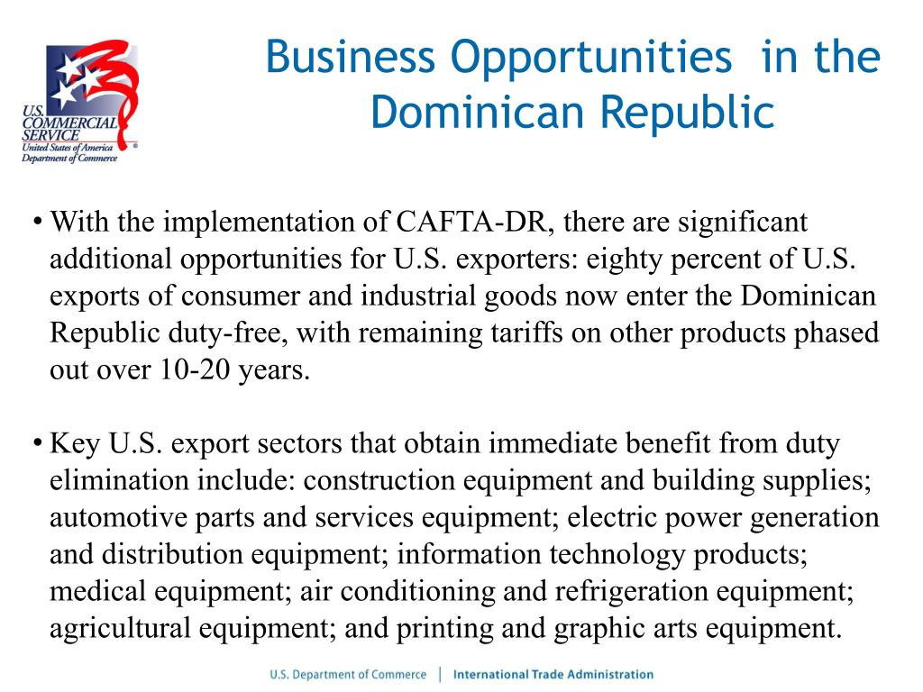 Business Opportunities  in the Dominican Republic
