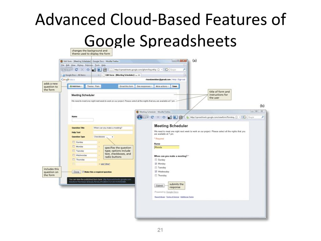 Advanced Cloud-Based Features of Google Spreadsheets