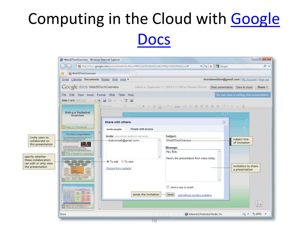 Computing in the Cloud with