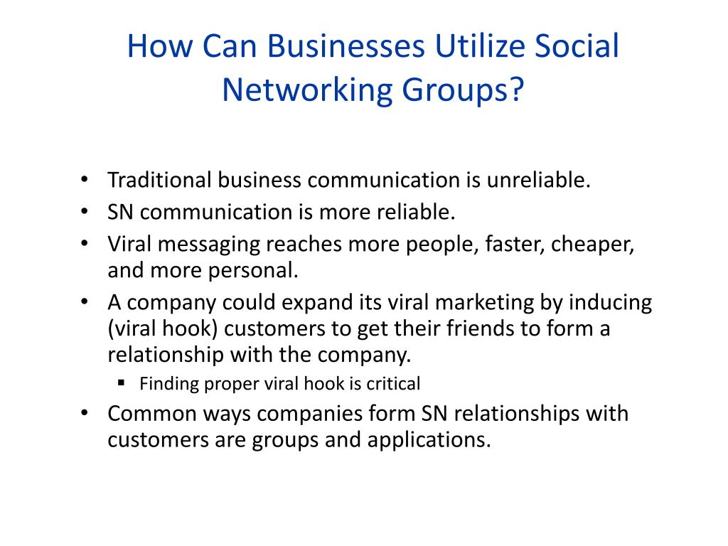 How Can Businesses Utilize Social Networking Groups?