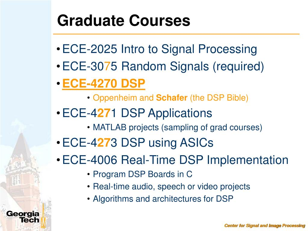 PPT - Education and Research in the Center for Signal and