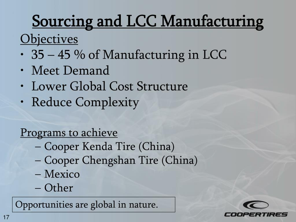 Sourcing and LCC Manufacturing