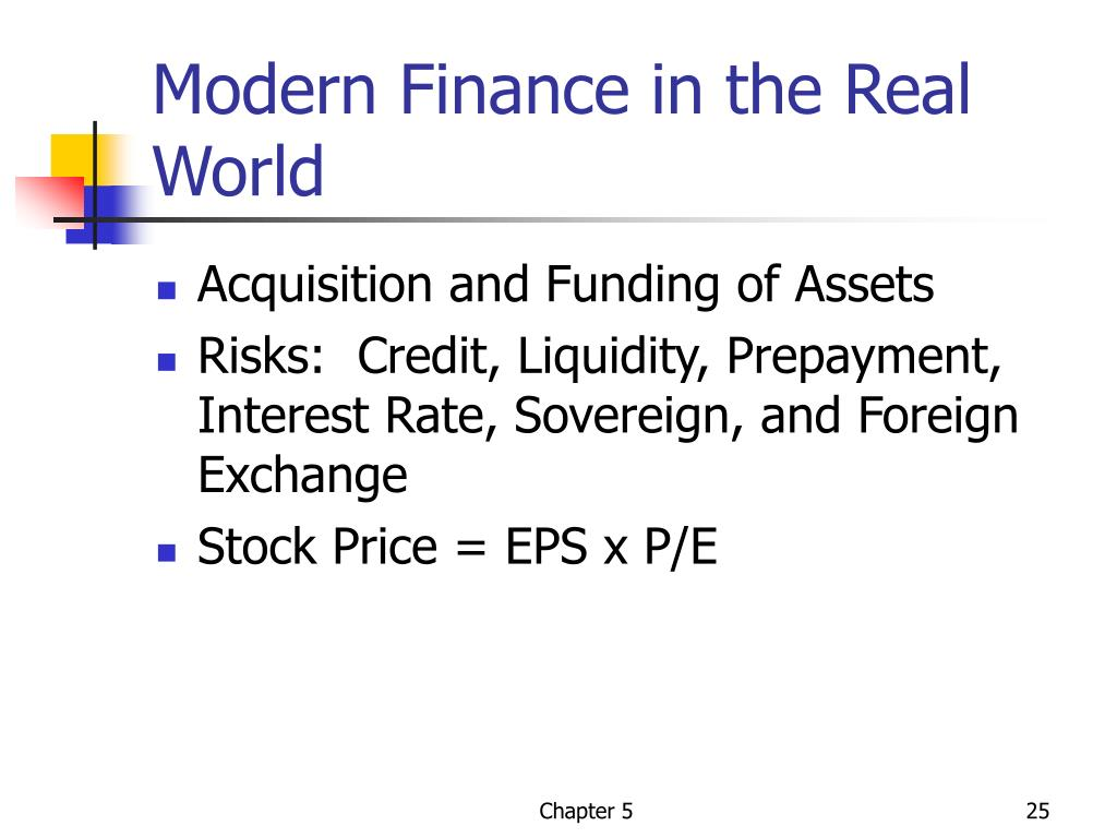 Modern Finance in the Real World