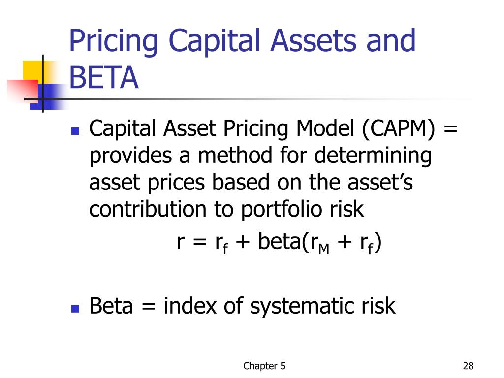 Pricing Capital Assets and BETA