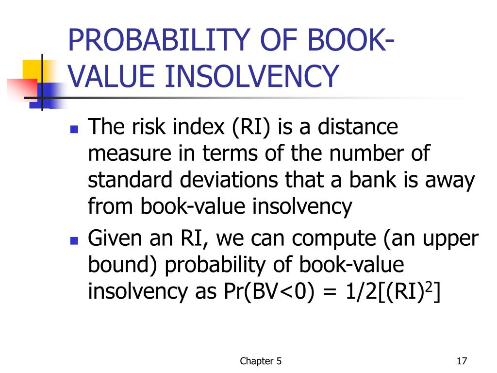 PROBABILITY OF BOOK-VALUE INSOLVENCY