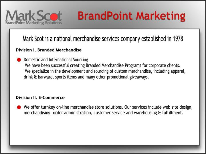 Company overview pos merchandise portfolio