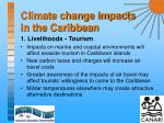 climate change impacts in the caribbean