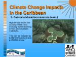 climate change impacts in the caribbean13