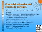 core public education and awareness strategies