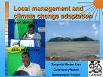 local management and climate change adaptation16