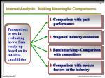 internal analysis making meaningful comparisons