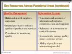 key resources across functional areas continued16