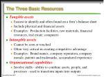 the three basic resources