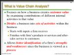 what is value chain analysis