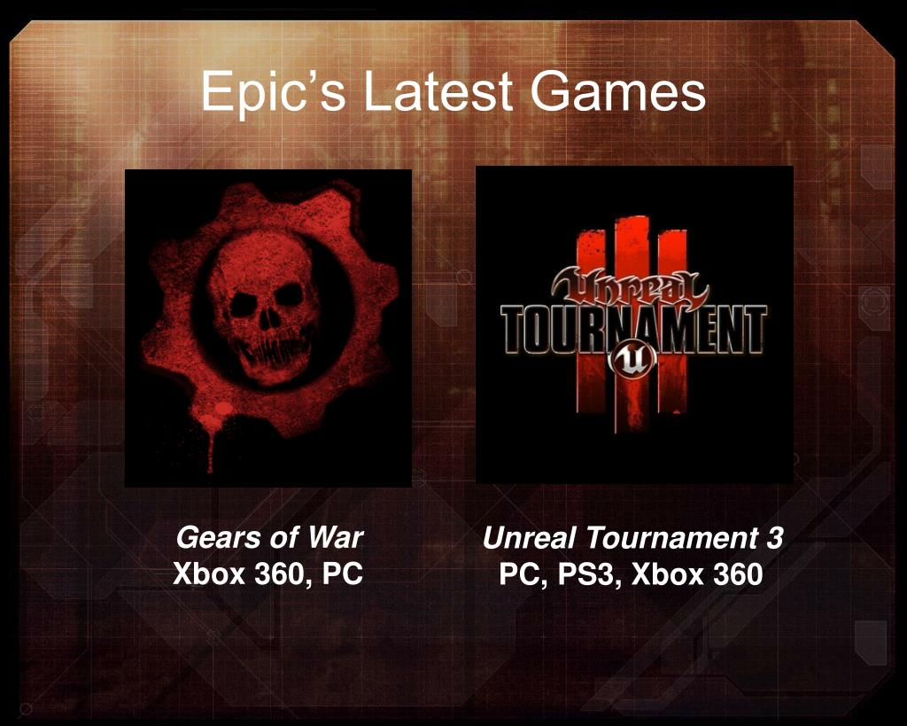 Epic's Latest Games