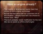 have an engine already