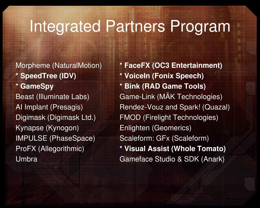 Integrated Partners Program