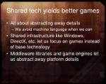 shared tech yields better games