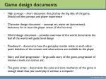 game design documents