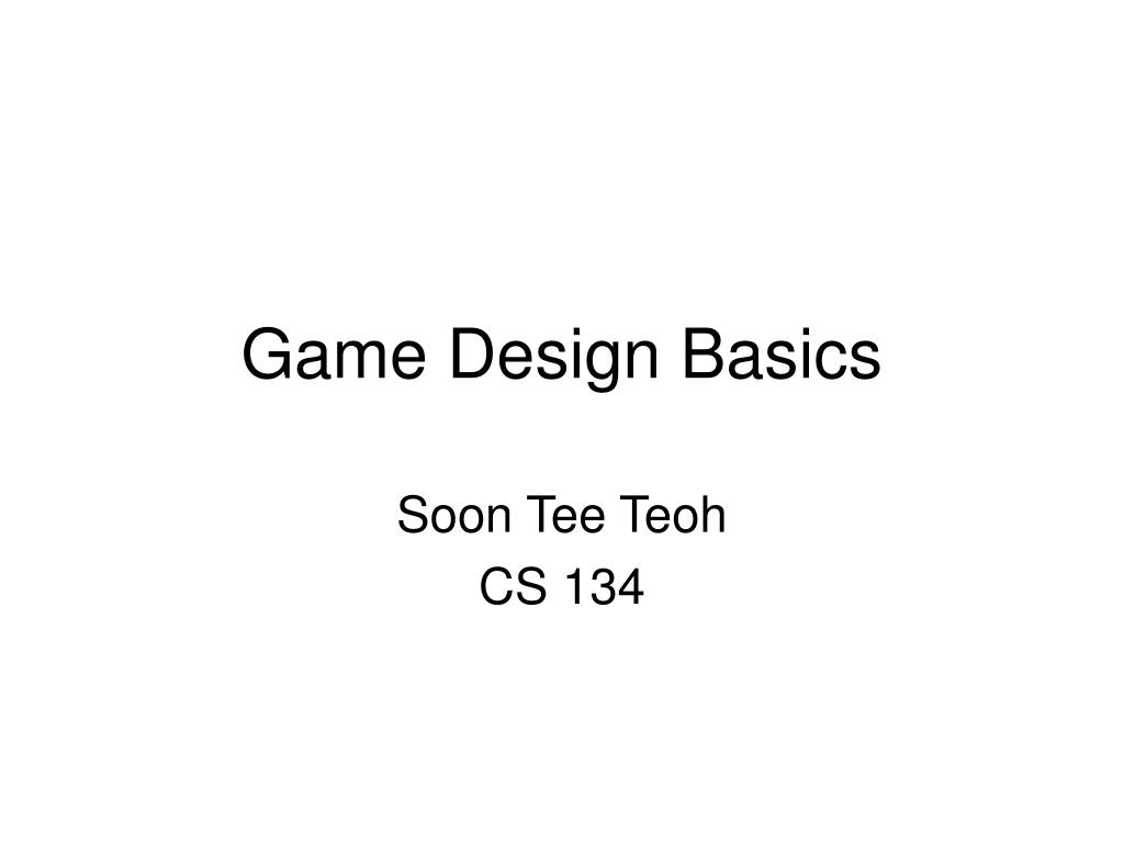 game design basics l.