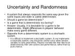 uncertainty and randomness