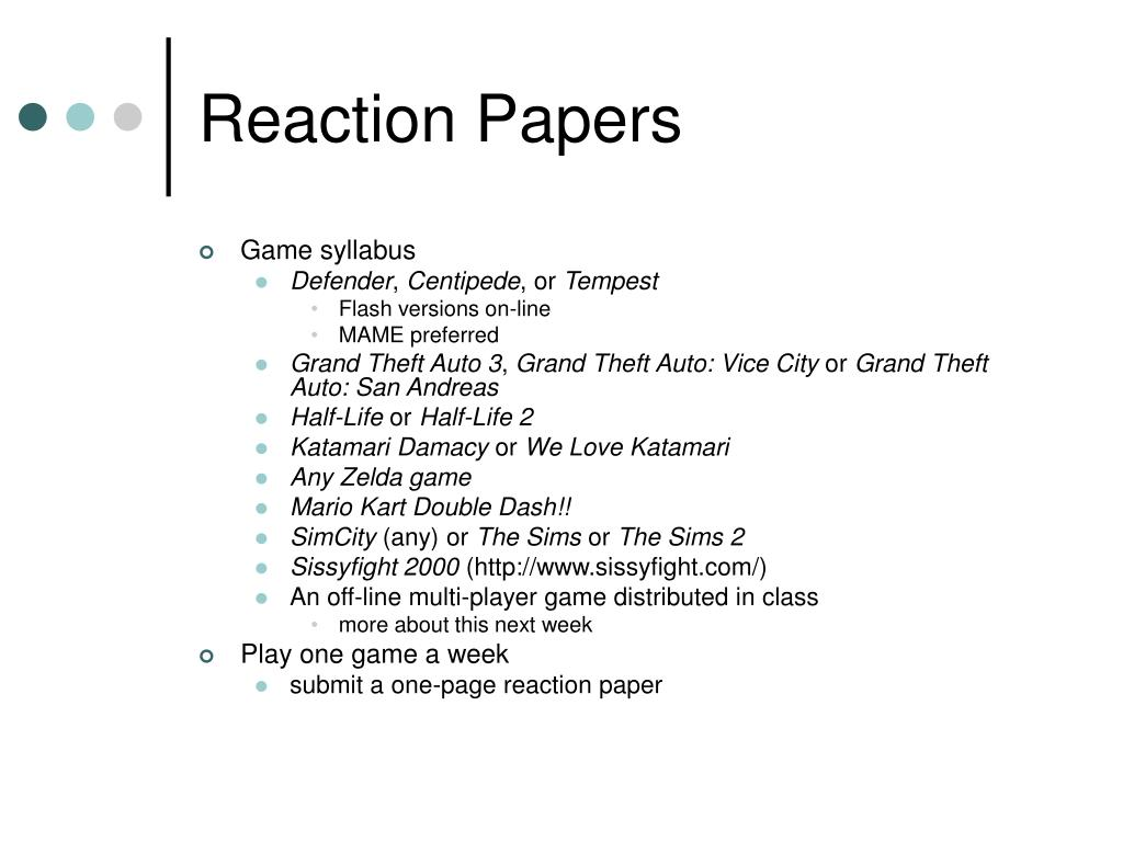 reaction papers on chorale Reaction paper format reaction paper format is an outline that organizes your thoughts when writing a reaction essay it is very important because it guides you and.