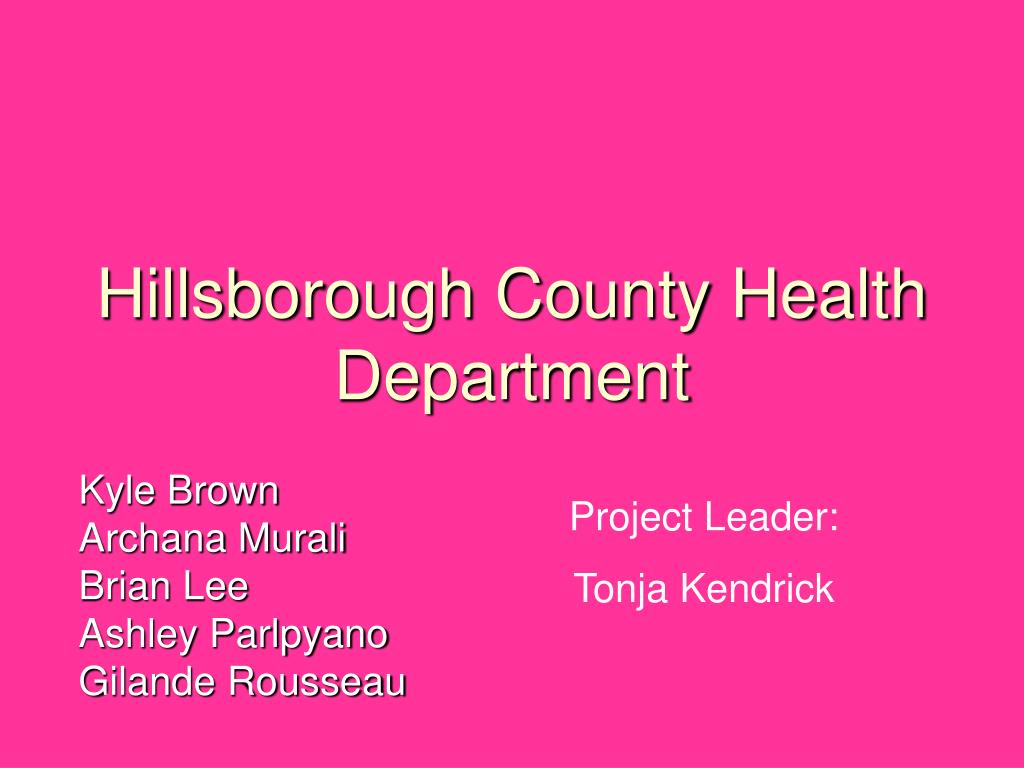 hillsborough county health department l.