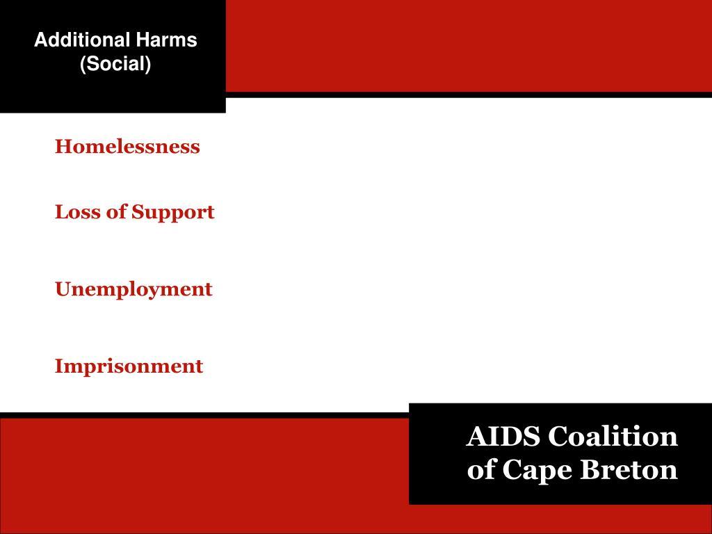 Additional Harms (Social)