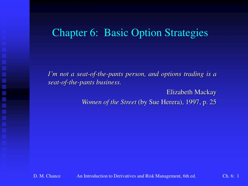 chapter 6 basic option strategies l.