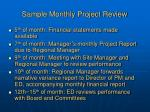 sample monthly project review