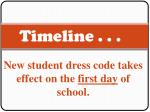 timeline new student dress code takes effect on the first day of school august 20 2008 indian gear