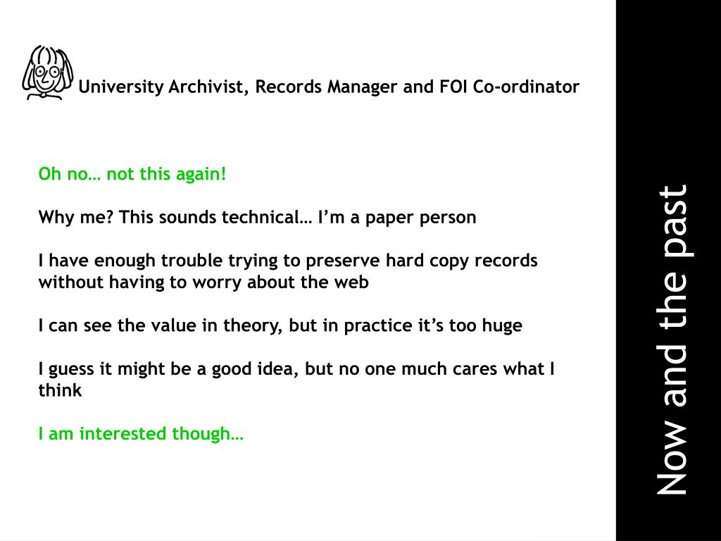 University Archivist, Records Manager and FOI Co-ordinator