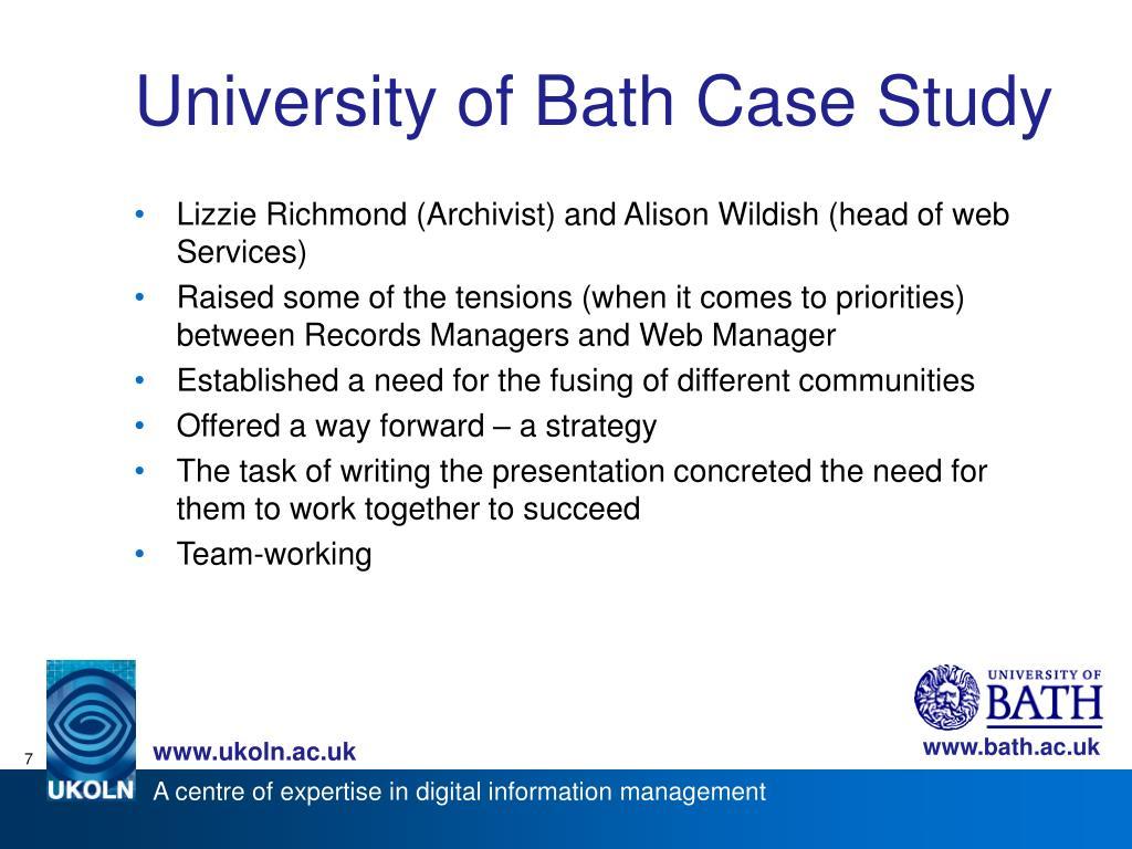 University of Bath Case Study