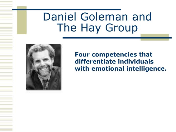 Daniel goleman and t he hay group