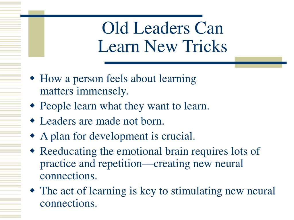 Old Leaders Can
