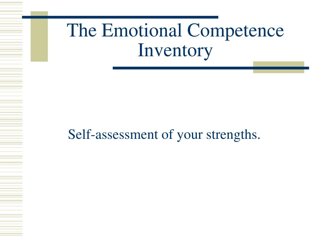 The Emotional Competence Inventory