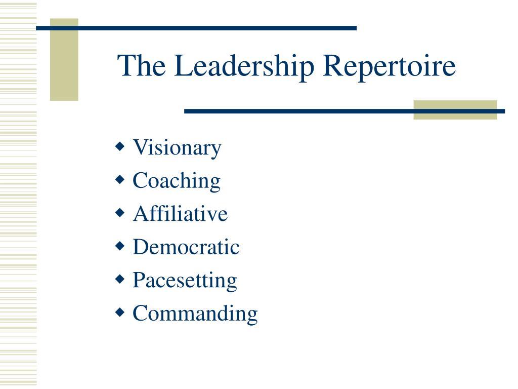 The Leadership Repertoire