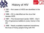 history of hiv