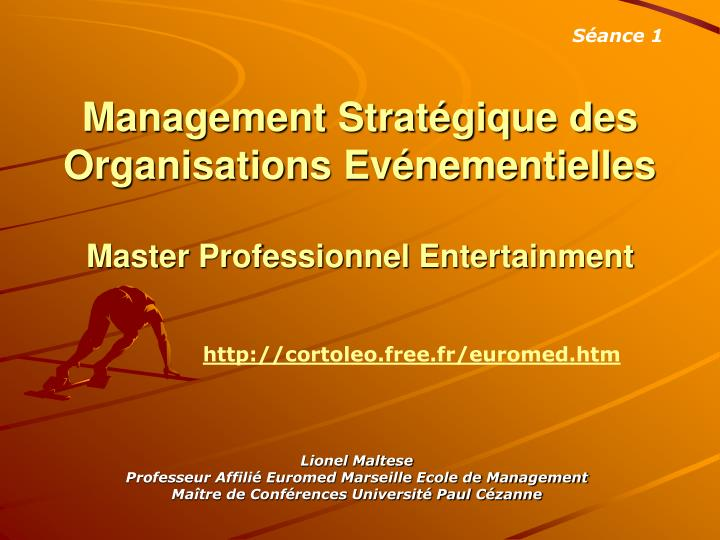 management strat gique des organisations ev nementielles master professionnel entertainment n.